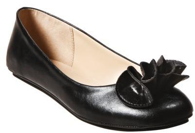 Mossimo Womens Odell Ruffle Ballet Flats - Black