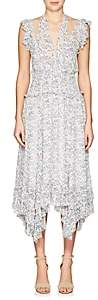 Ulla Johnson Women's Aviva Silk Georgette Maxi Dress-Blanc