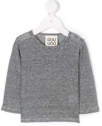 Douuod Kids striped long sleeve T-shirt