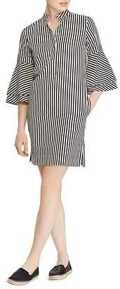Lauren Ralph Lauren Striped Bell-Sleeve Shirt Dress