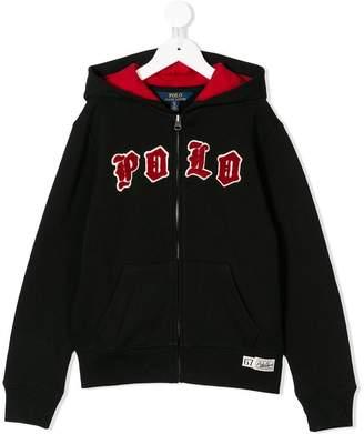 Ralph Lauren Kids logo embroidered hoodie