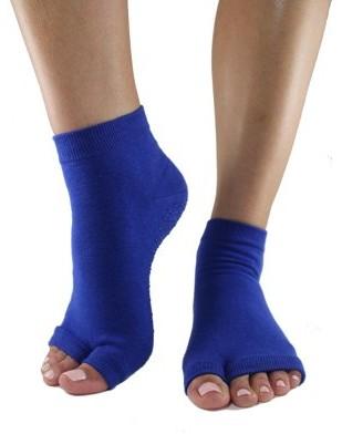 Toezies Dazzling Blue Tabi Toe-less Grip Socks (S/M)