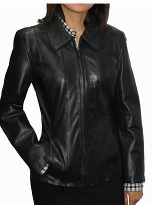 DonnyBrook Women's Zip Front Genuine Leather Jacket S