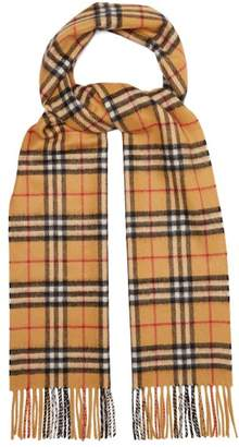 Burberry Reversible Vintage Check Cashmere Scarf - Mens - Beige