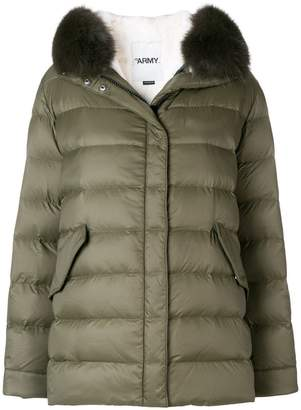 Yves Salomon Army fur trim down jacket