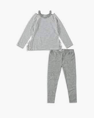 Splendid Baby Girl Cutout Neckline Tee Set