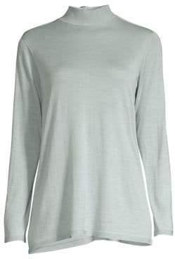 Eileen Fisher Tie-Back Collar Sweater