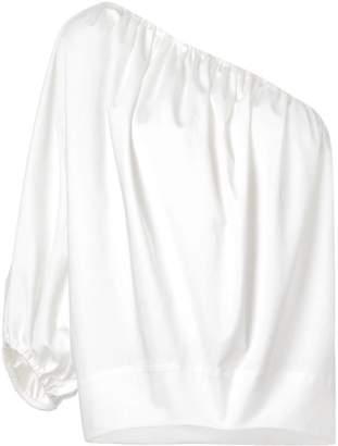 Derek Lam One Shoulder Cotton Sateen Top