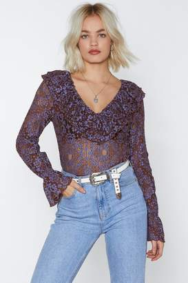 Nasty Gal Come and Lace Me Bodysuit