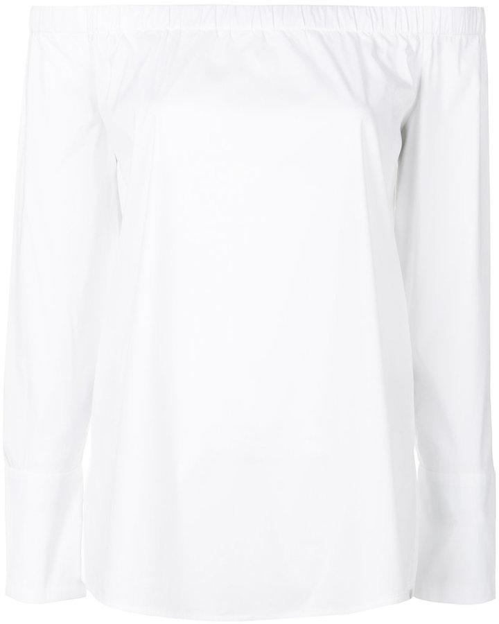 DKNY off-shoulder flared blouse