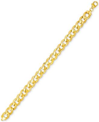 Men's Curb Link Bracelet in 10k Gold, Made in Italy