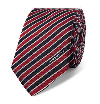 Givenchy 6.5cm Striped Silk Tie - Red
