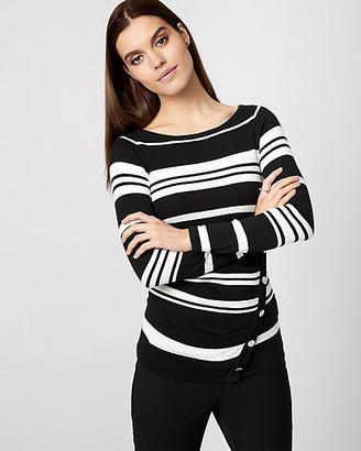 Le Château Stripe Cotton Blend Boat Neck Sweater