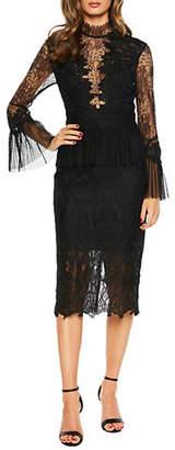 Bardot Frankie Lace Long Sleeve Sheath Dress