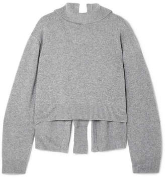 REJINA PYO - Amanda Tie-back Wool-blend Turtleneck Sweater - Gray