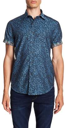 Robert Graham Linwood Short Sleeve Classic Fit Print Woven Shirt