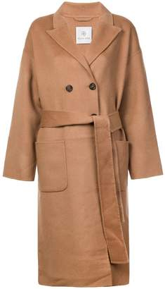 Anine Bing belted double-breasted coat