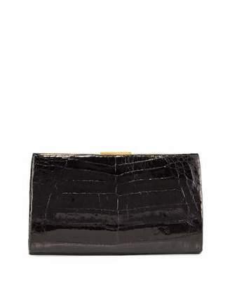 Nancy Gonzalez Frame Crocodile Clutch Bag