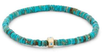 Luis Morais Evil Eye Octagon Beaded Bracelet - Mens - Blue Multi