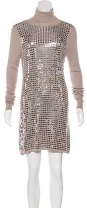 Alice + Olivia Embellished Sweater Dress