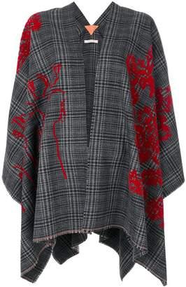 Ermanno Gallamini floral pattern cape