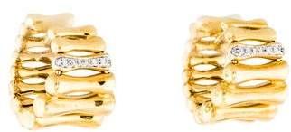 Chimento 18K Diamond Bamboo Hoop Earrings