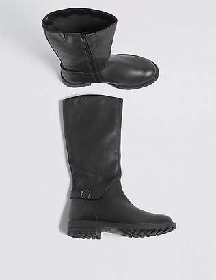 Marks and Spencer Kids' Leather Riding Boots (13 Small - 6 Large)
