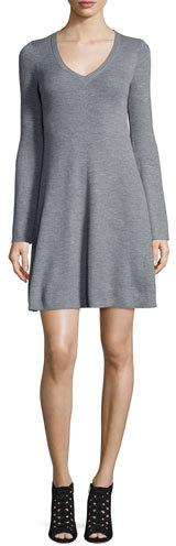 BCBGMAXAZRIABCBGMAXAZRIA Althea Merino Wool V-Neck Sweater Dress
