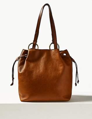 M&S Collection Leather Ring Shoulder Bag