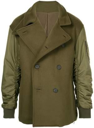 Wooyoungmi bomber pea coat-jacket