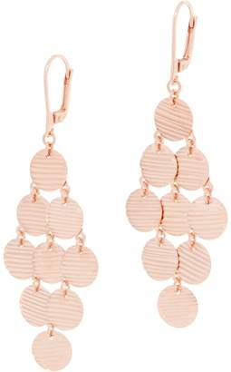 Sterling Silver Textured Circle Chandelier Earrings by Silver Style
