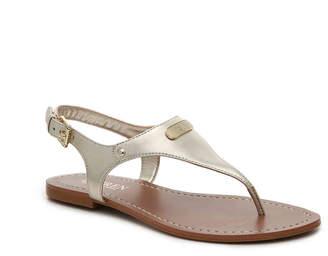 Women's Patsi Flat Sandal -Gold Metallic $69 thestylecure.com