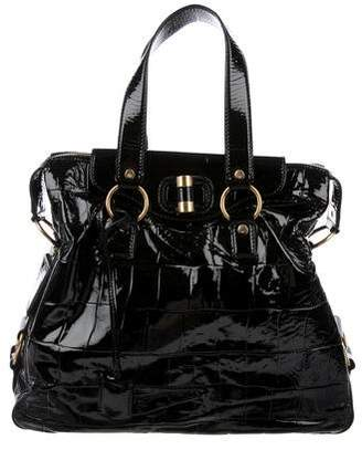 Saint Laurent Patent Leather Satchel Bag