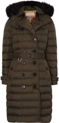 Burberry detachable hood puffer coat