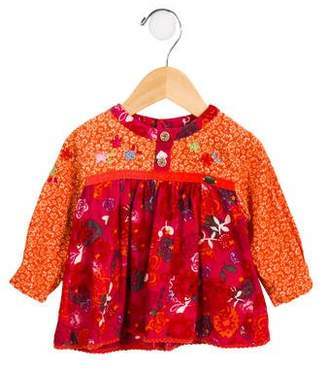 Catimini Girls' Floral Corduroy Tunic