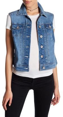 Stony Denim Vest (Petite) $55 thestylecure.com