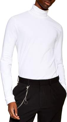 Topman Jersey Turtleneck Long Sleeve T-Shirt