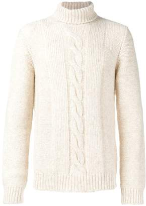 Tod's turtleneck cable knit sweater