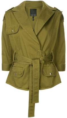 Marissa Webb belted military jacket
