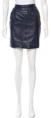 Ellen Tracy Leather Mini Skirt