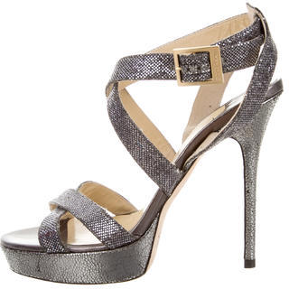 Jimmy Choo Jimmy Choo Glitter Platform Sandals