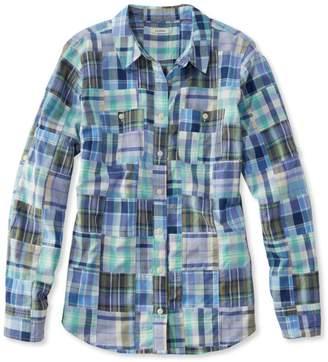 L.L. Bean L.L.Bean Madras Shirt, Long-Sleeve Patchwork