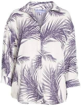Nordstrom PARADISED Palm Print Island Shirt Exclusive)