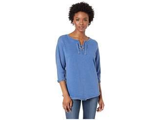 Jag Jeans Petite Petite Debbie Lace-Up Sweatshirt