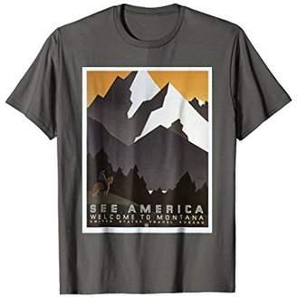 See America T-Shirt Vintage Travel Advertising Poster Retro