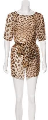 Blumarine Silk Mini Dress