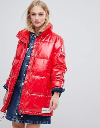 Calvin Klein Jeans padded jacket in vinyl