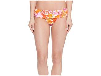 Lauren Ralph Lauren Lush Tropical Classic Shirred Banded Hipster Bottom Women's Swimwear