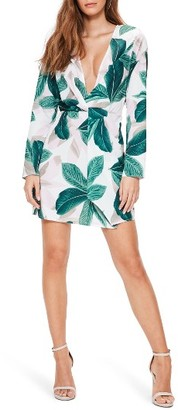 Women's Missguided Knot Front Sheath Dress $62 thestylecure.com