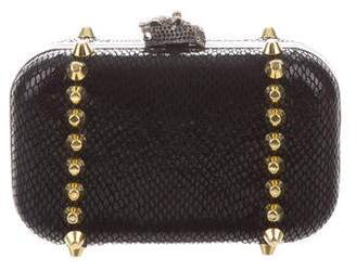 House Of Harlow Studded Embossed Clutch
